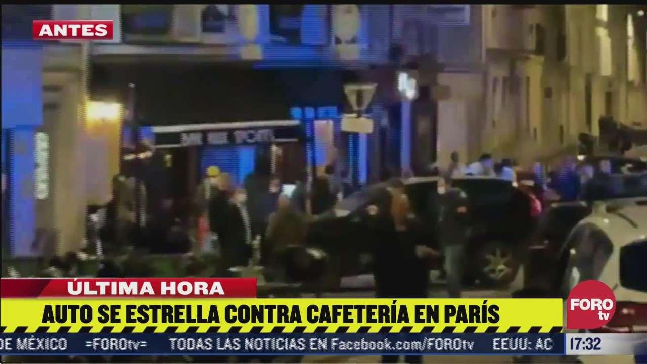 vehiculo choca contra terraza de cafe de paris hay al menos un muerto