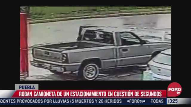 video delincuente roba camioneta en menos de 30 segundos en puebla