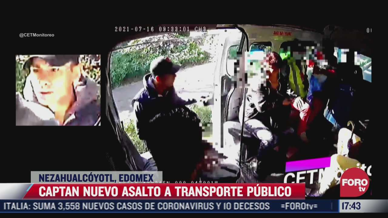 video sujeto asalta a pasajeros de transporte publico en nezahualcoyotl