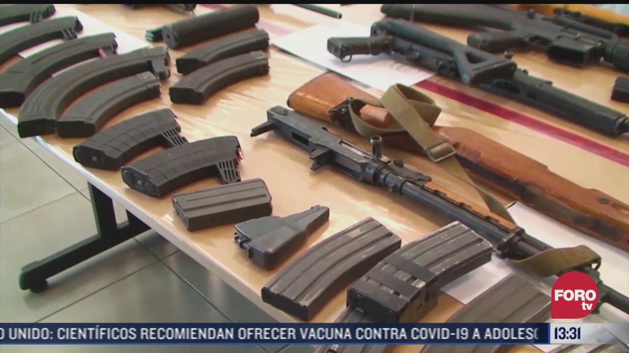 cada ano ingresan a mexico 500 mil armas por la frontera de eeuu