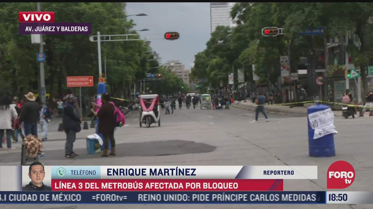 comerciantes bloquean avenida juarez en la cdmx