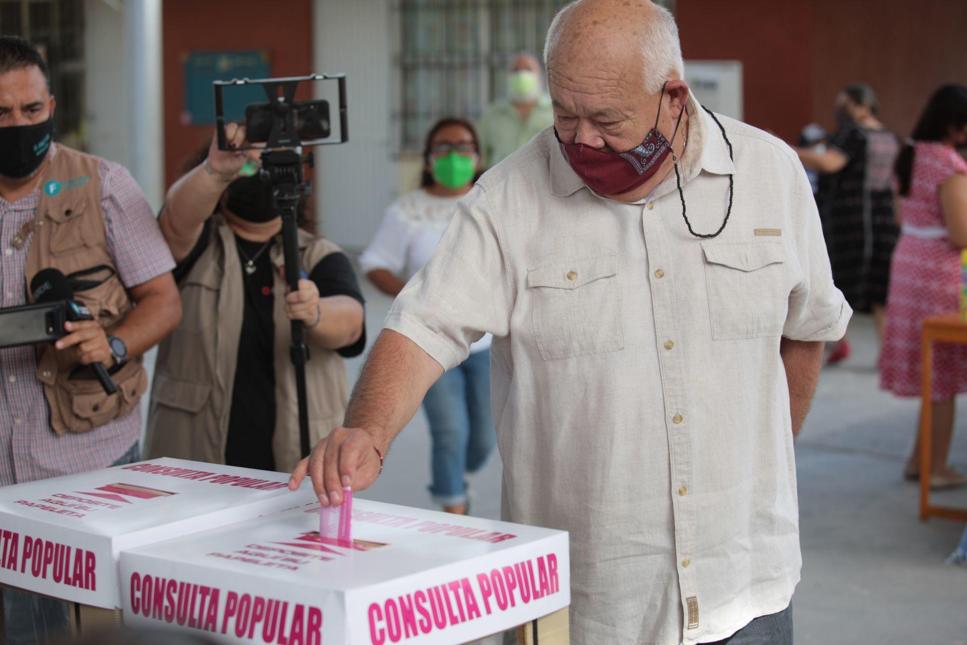 Consulta Popular 2021 Voto Víctor Manuel Cosío