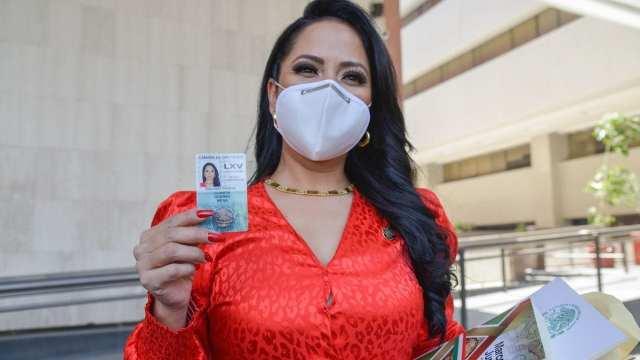 Juanita Guerra, diputada electa de Morena, durante el proceso de credencialización para la LXV Legislatura del Congreso de la Unión (Cuartoscuro)