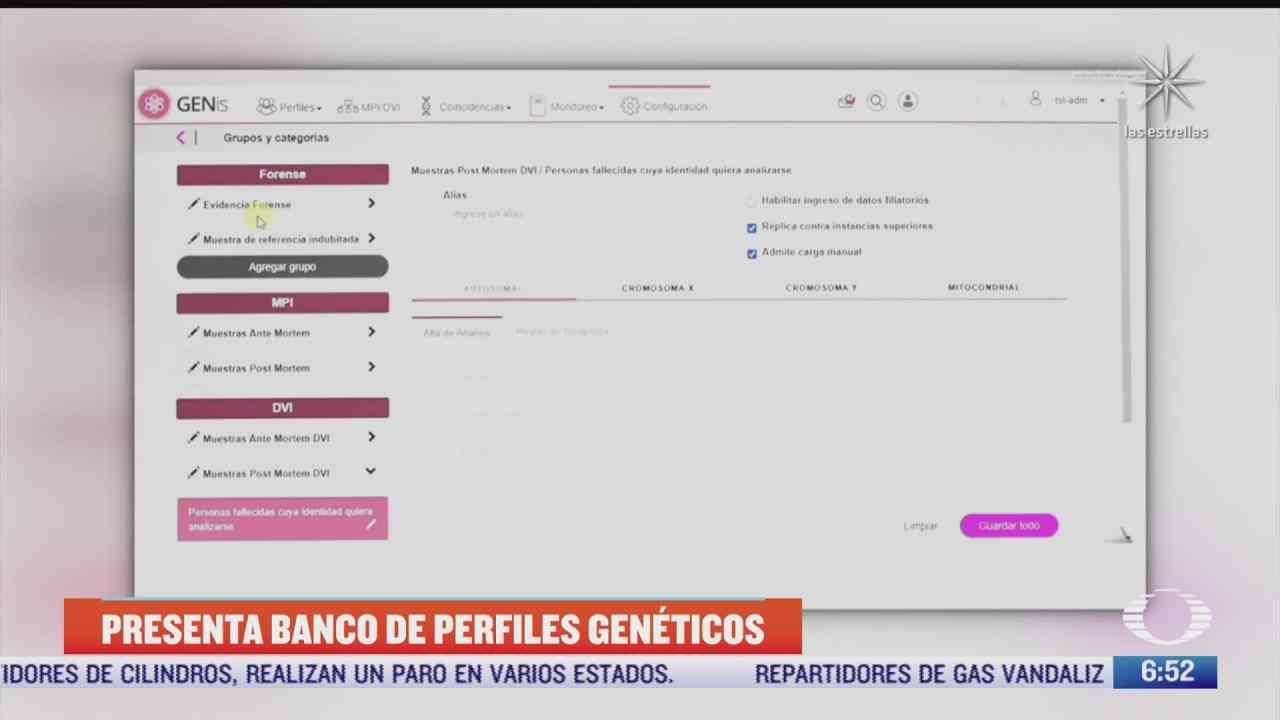 fgjcdmx recibe software de gestion de perfiles geneticos para esclarecer secuestros y violaciones