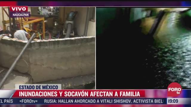 inundaciones y socavon afectan vivienda en tecamachalco estado de mexico