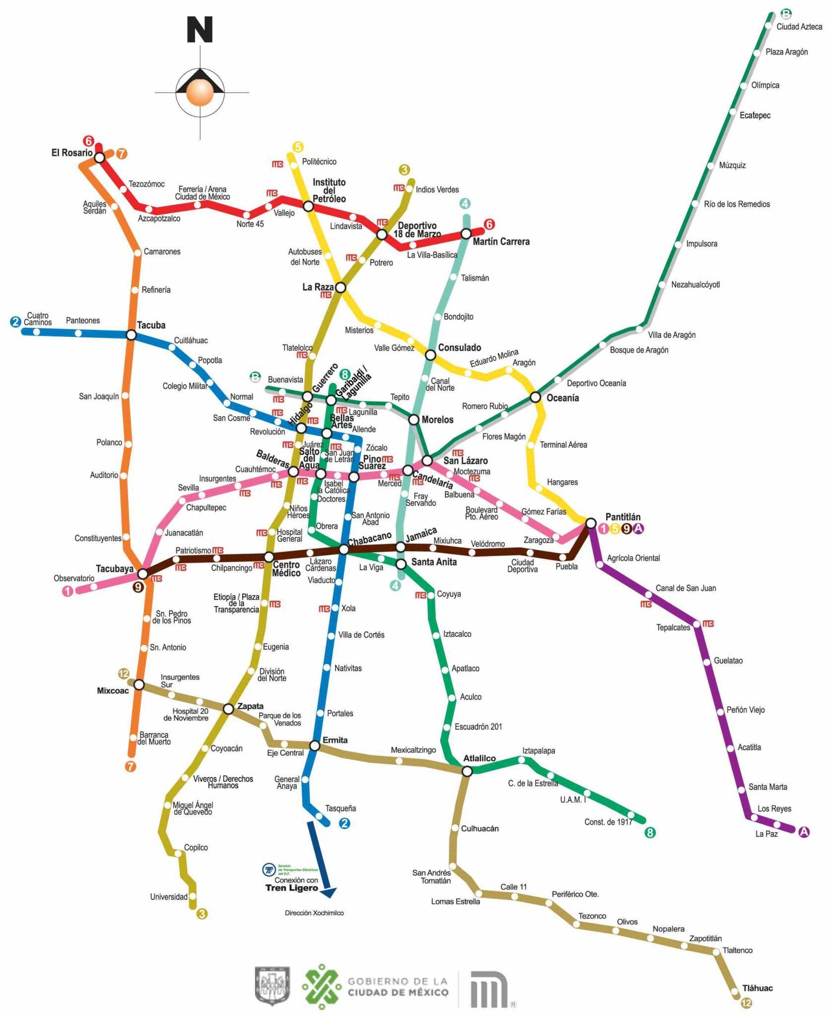 Mapa Líneas Metro CDMX Imagen
