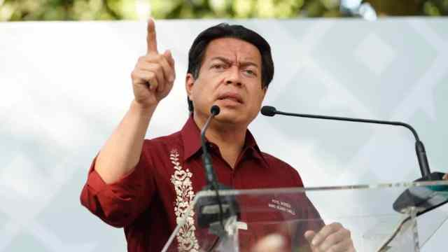 El presidente nacional de Morena, Mario Delgado Carrillo (Morena)