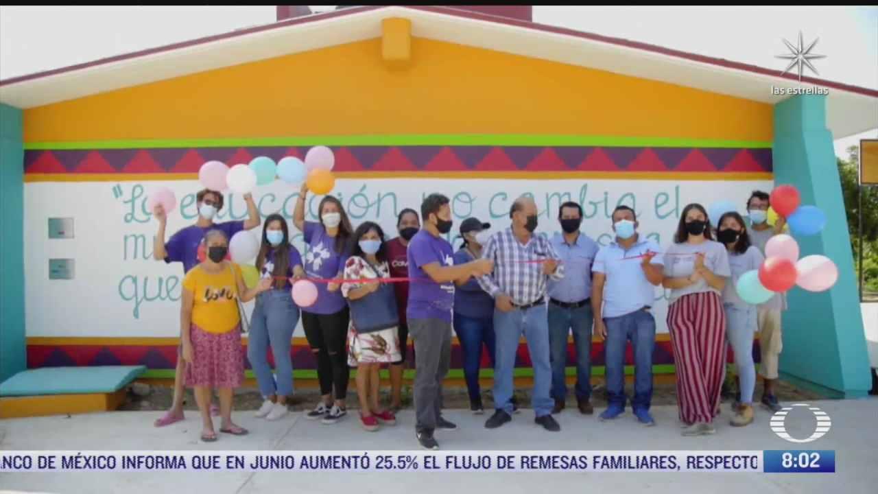 organizacion all hands and hearts rehabilita dos escuelas mas afectadas por sismo del 7 s en oaxaca