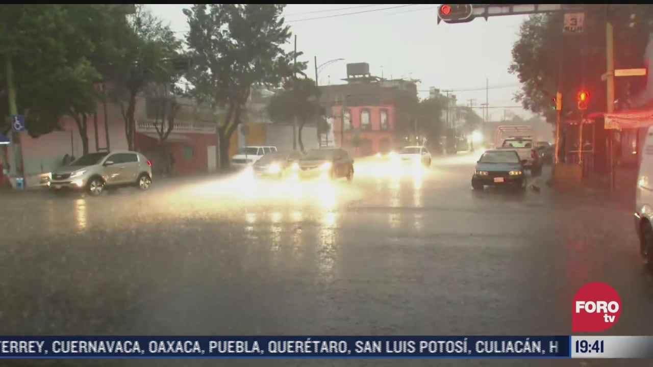 se registra lluvia intensa en la alcaldia venustiano carranza