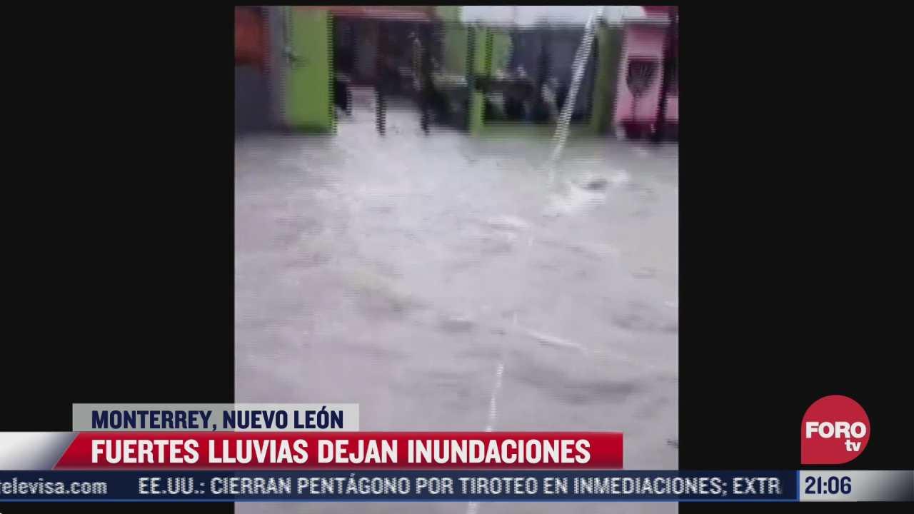 video calles de monterrey se convirtieron en autenticos rios tras fuertes lluvias