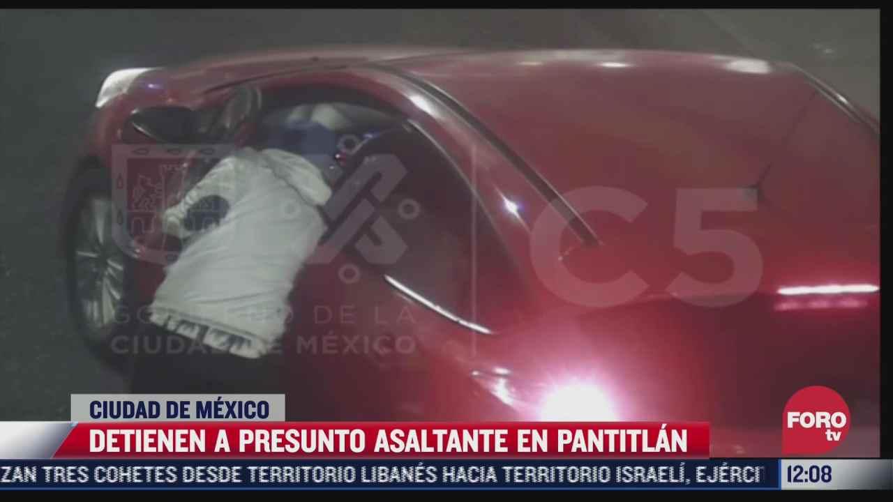 video delincuente asalta de conductor en cdmx luego lo detienen