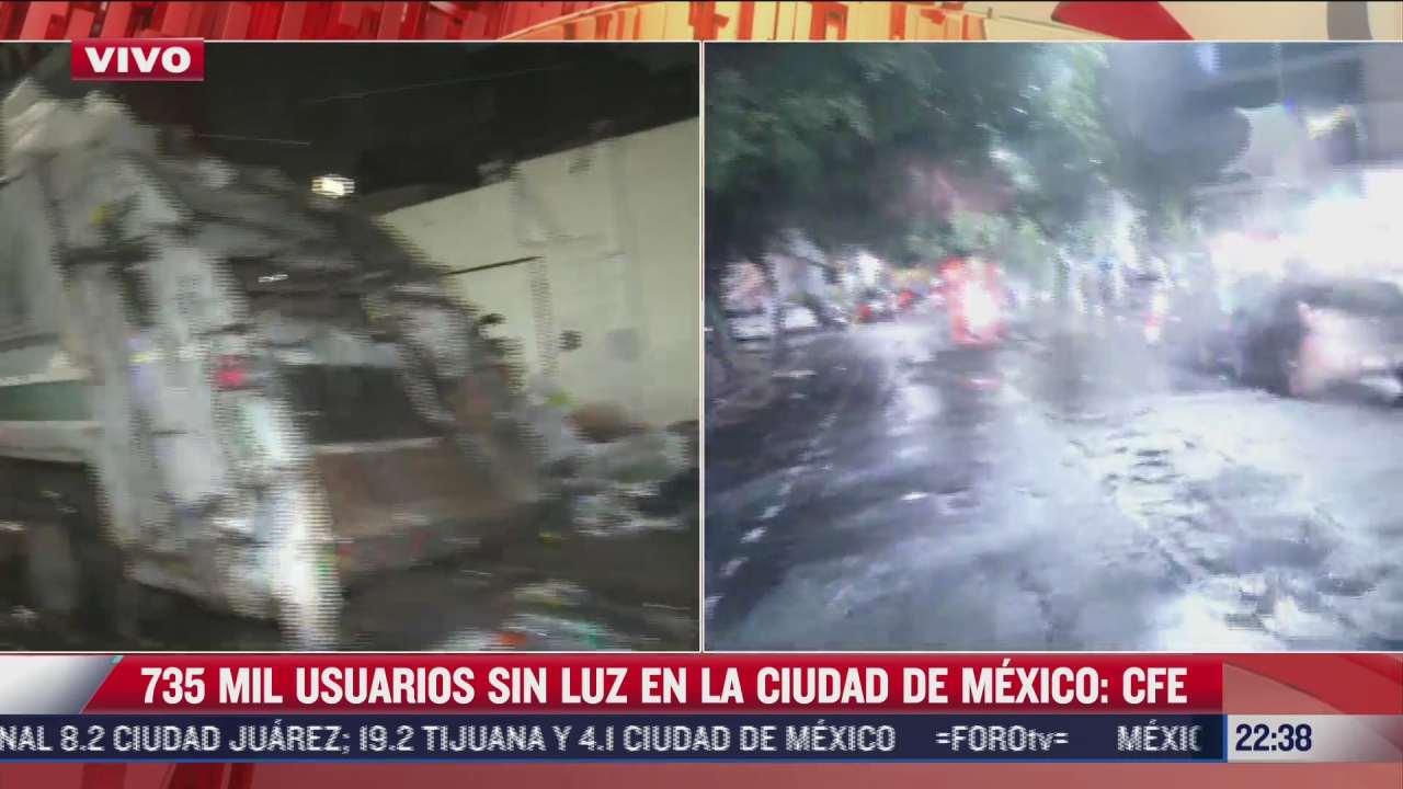 735 mil usuarios no tienen luz en cdmx tras sismo en acapulco cfe