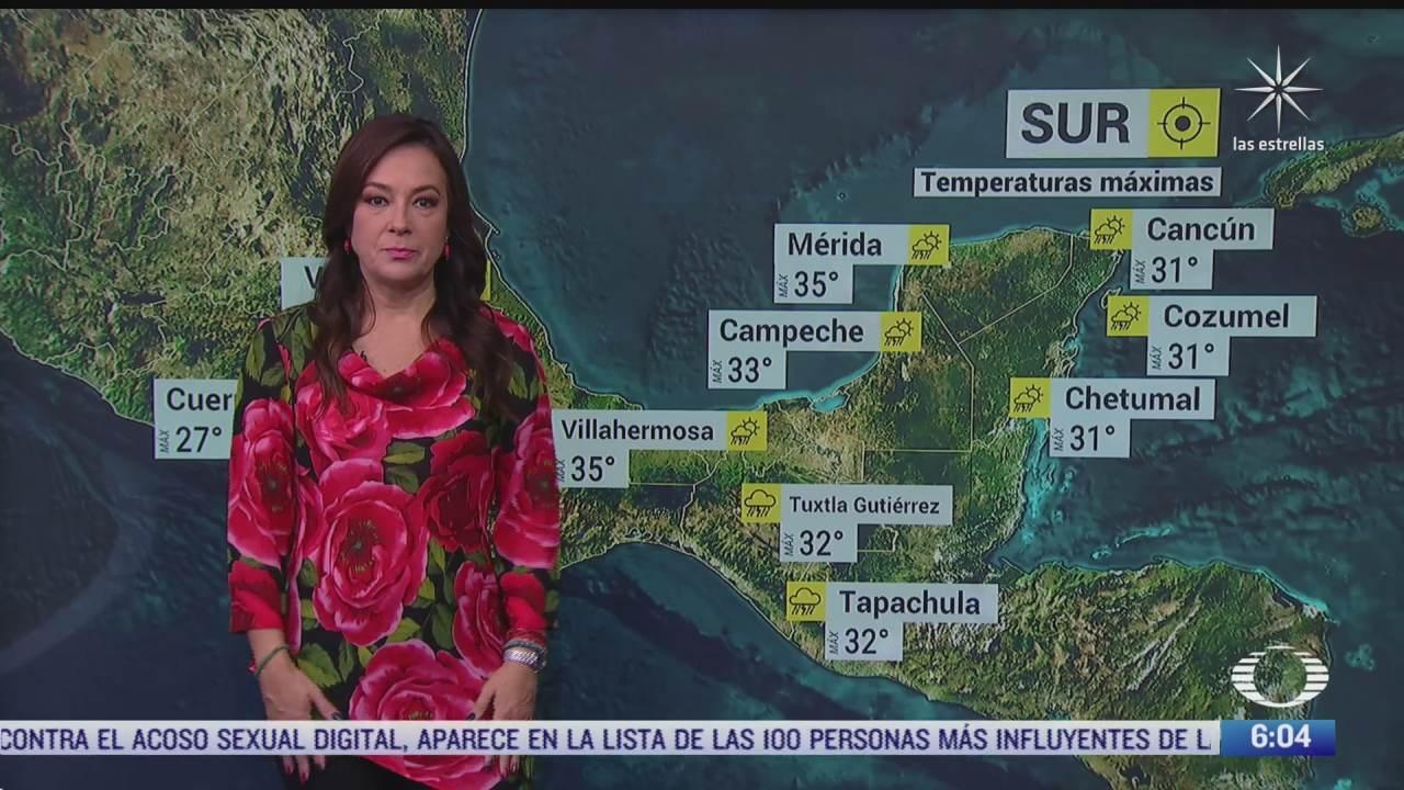 Canales de baja presión provocará lluvias fuertes en México
