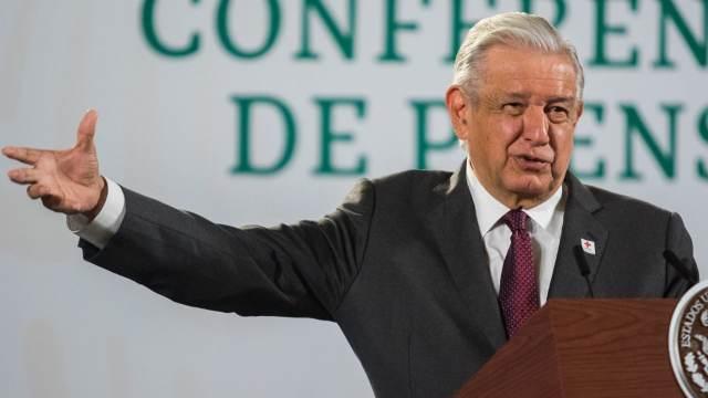 El presidente Andrés Manuel López Obrador, en la conferencia mañanera