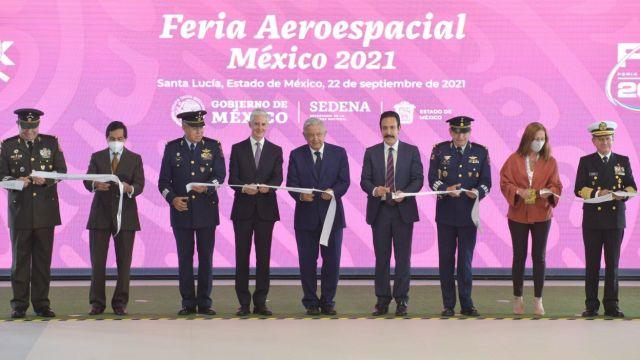 AMLO inaugura la Feria Aeroespacial México 2021