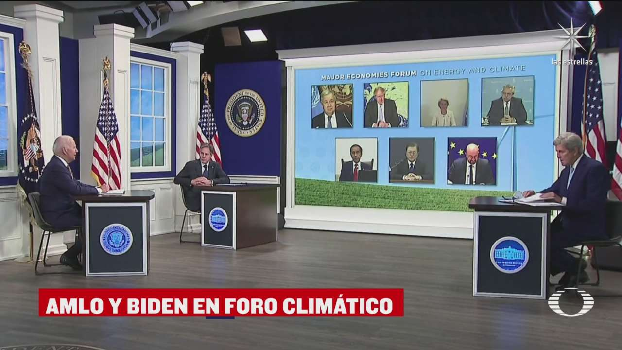 amlo participa en foro sobre cambio climatico convocado por biden