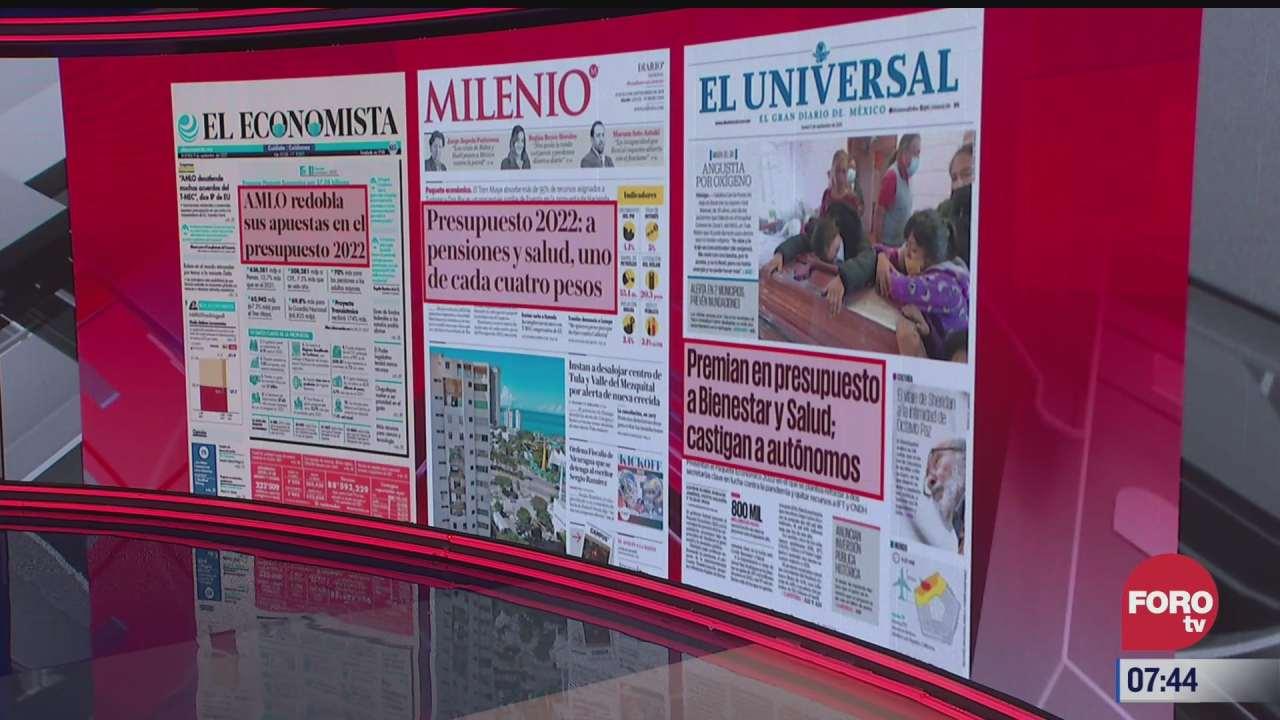 analisis de las portadas nacionales e internacionales del 9 de septiembre del