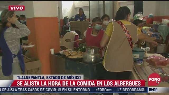 asi funciona el servicio de comida en albergues habilitados para los damnificados del cerro del chiquihuite