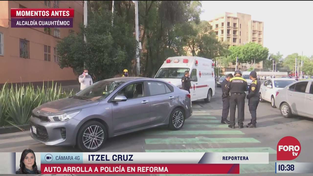 automovilista atropella a policia porque le impidio el paso en la cdmx
