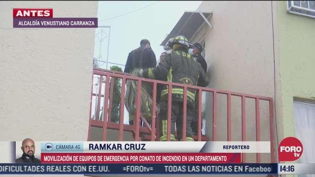 bomberos controlan incendio en la venustiano carranza