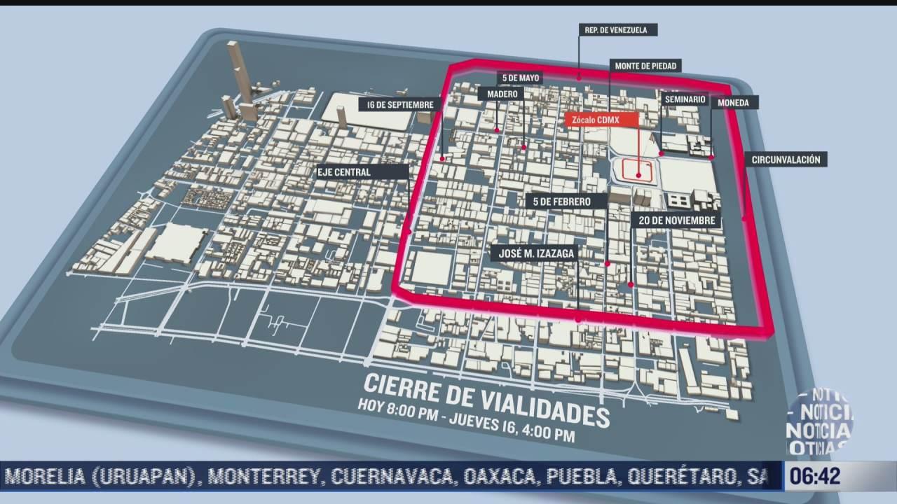 cierre de vialidades en cdmx por festejos del 15 de septiembre