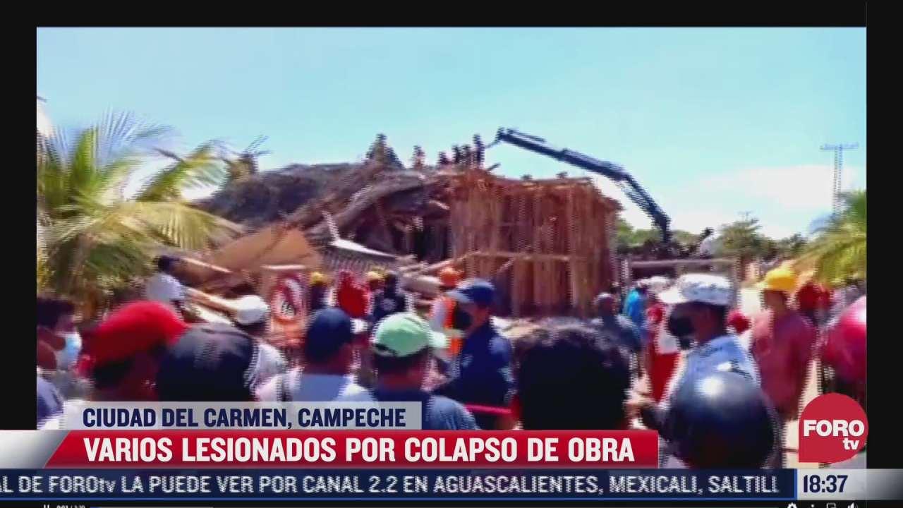 colapsa obra en ciudad del carmen campeche hay varios heridos