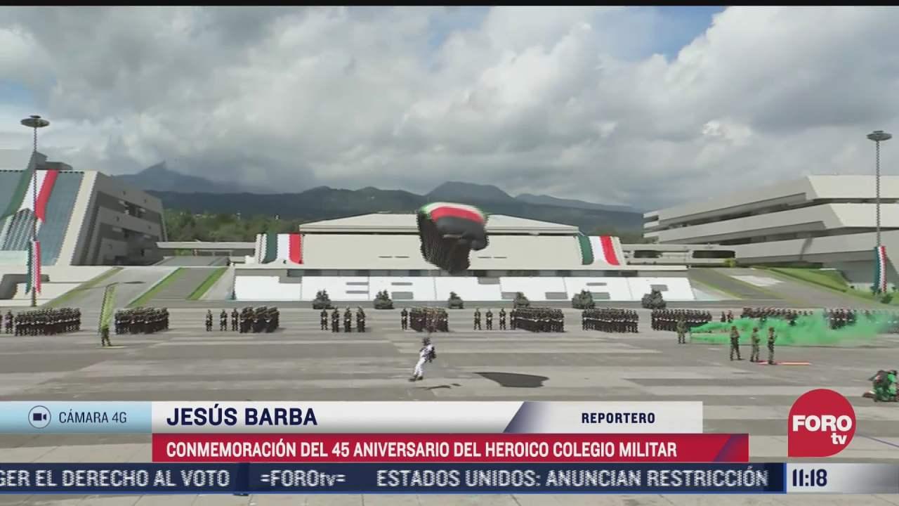 conmemoracion del 45 aniversario del heroico colegio militar