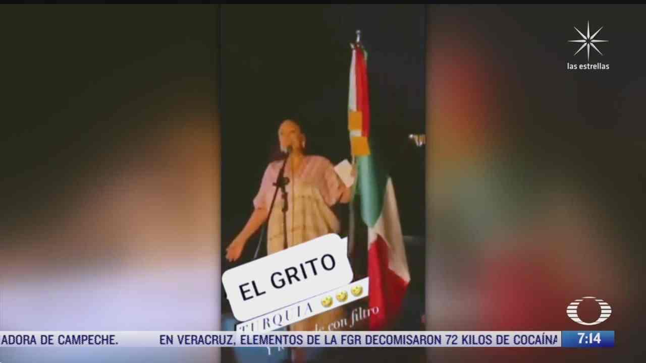 consul de mexico en turquia incluye a amlo entre los vivas durante grito de independencia