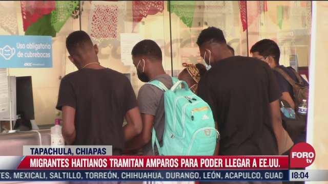 continua la llegada de migrantes haitianos a chiapas