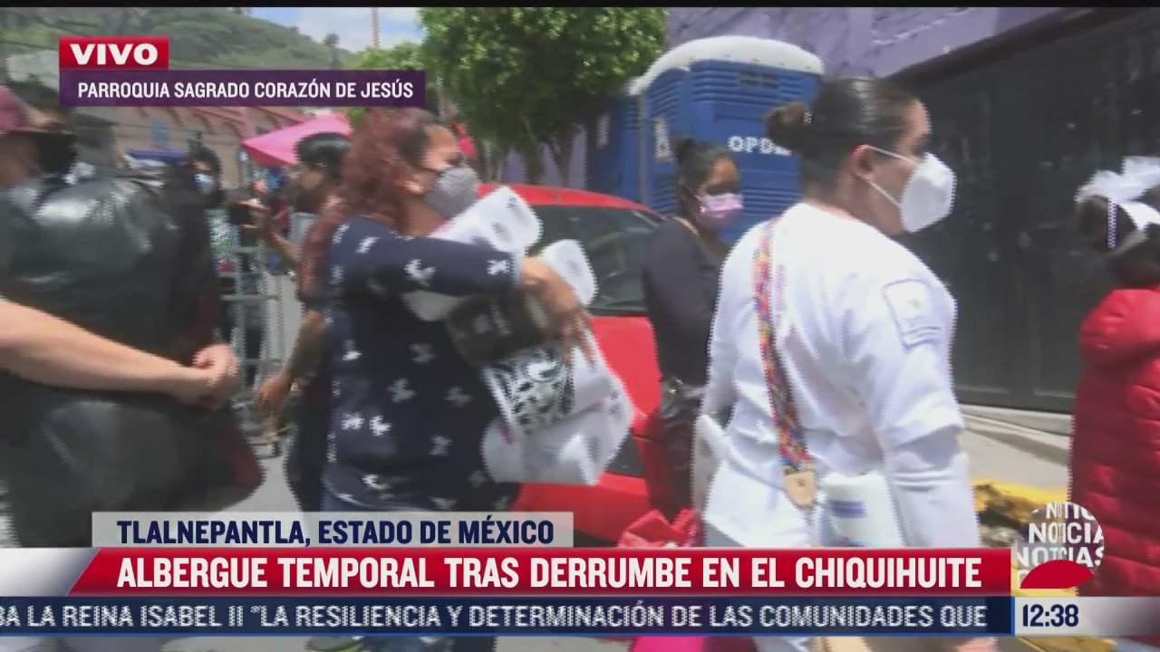 continua recaudacion de viveres para damnificados por derrumbe del cerro del chiquihuite
