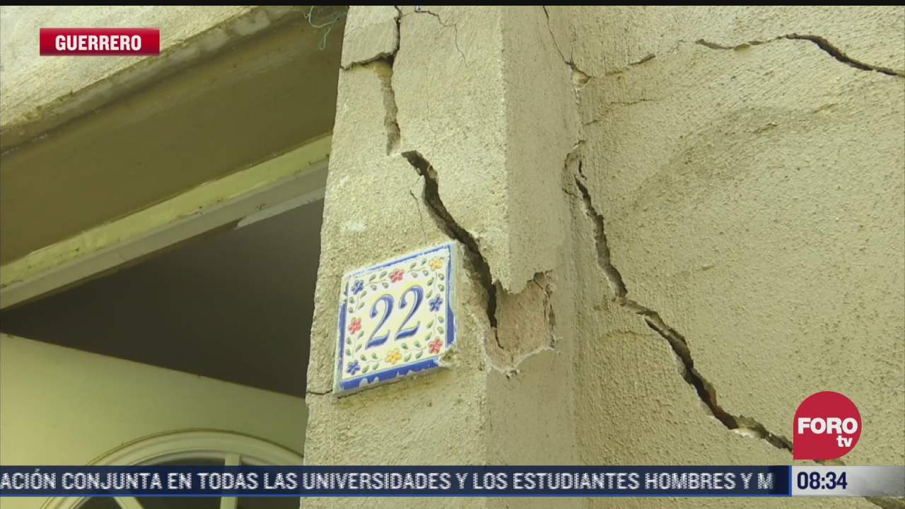 continua recuento de danos en guerrero tras sismo de magnitud