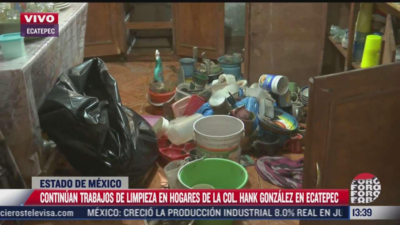 continuan limpieza en hogares de la colonia hank gonzalez ecatepec