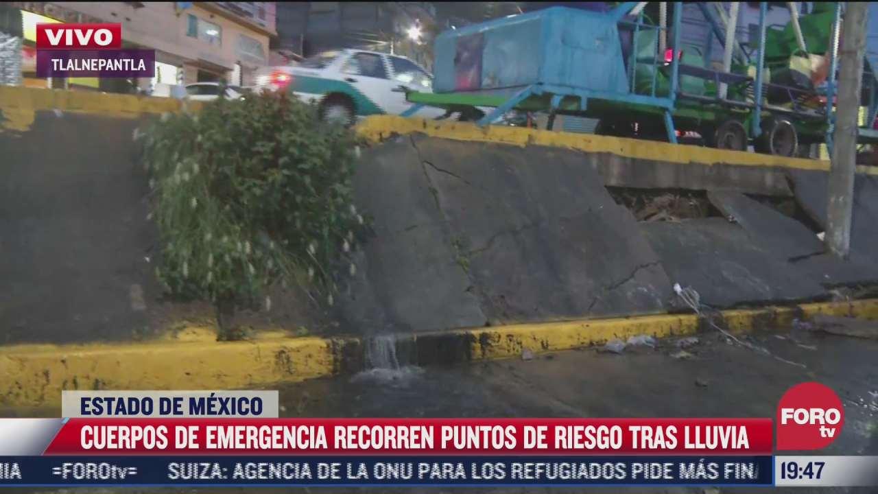 cuerpos de emergencia recorren diversos puntos del edomex tras lluvias