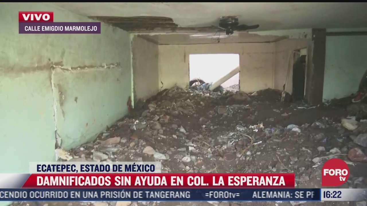 damnificados continuan sin ayuda en la colonia la esperanza en ecatepec