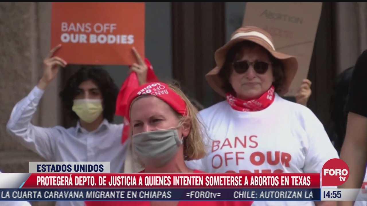 departamento de justicia de eeuu amenaza con aplicar ley que protege el libre acceso al aborto