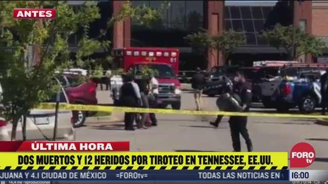 dos muertos y 12 heridos deja tiroteo en tennessee ee uu