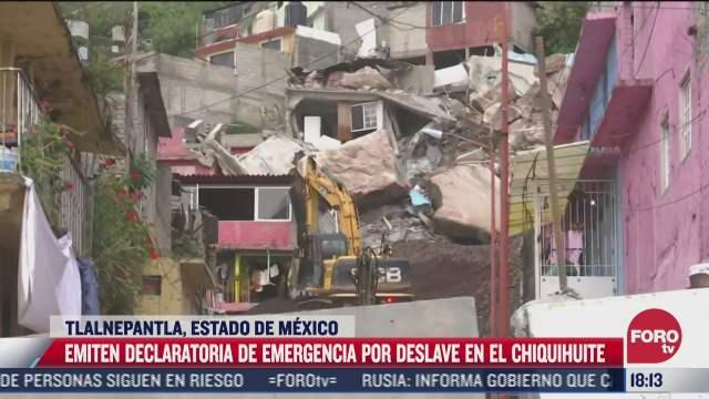 emiten declaratoria de emergencia por deslave en el chiquihuite