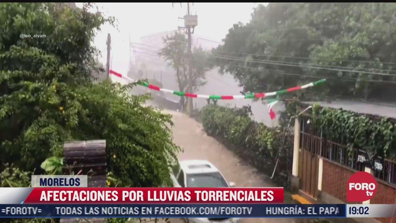estas son las afectaciones por lluvias torrenciales en cuernavaca morelos