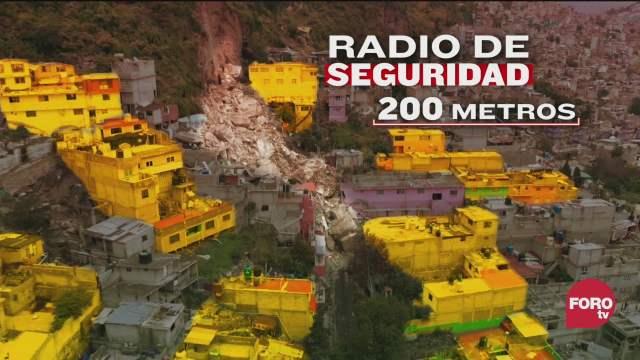 este lugar sigue en riesgo inminente de derrumbe dicen autoridades de edomex sobre el chiquihuite