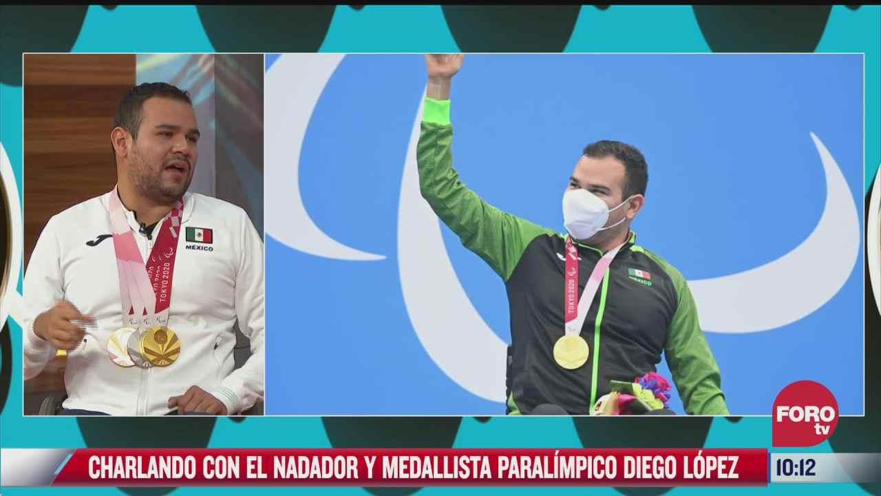 esteban arce entrevista a diego lopez multimedallista paralimpico en natacion