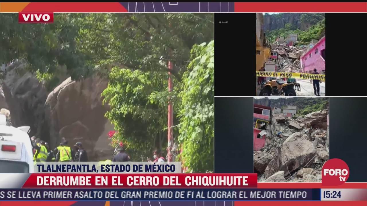 evacuan zonas aledanas al cerro del chiquihuite tras derrumbe