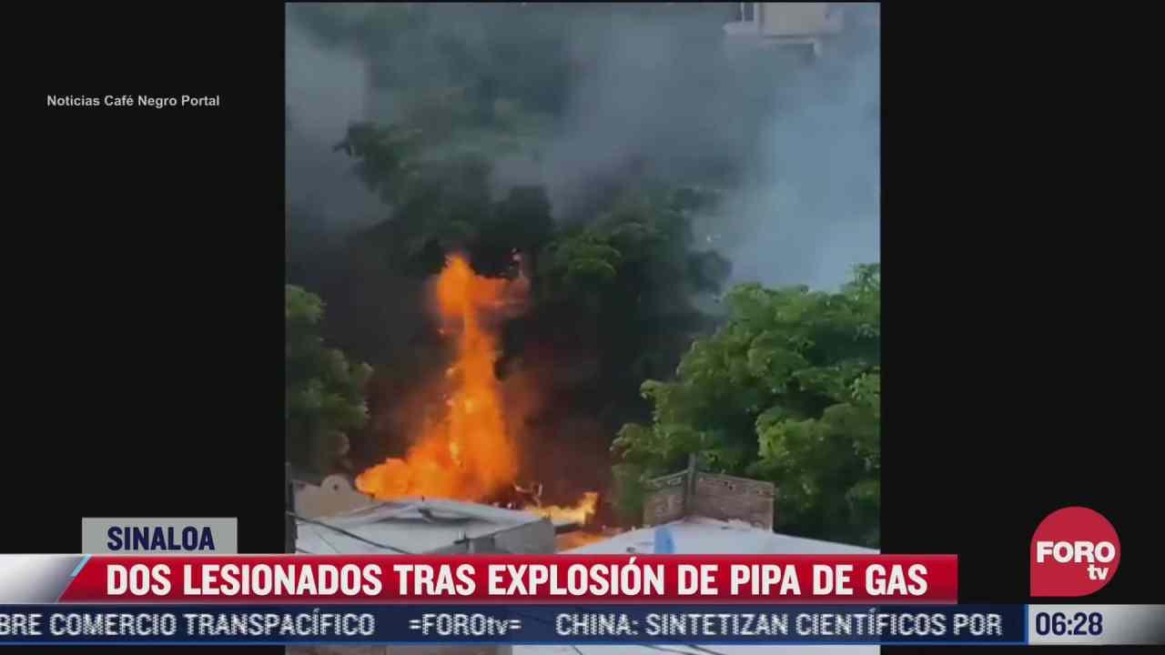 explosion de pipa de gas deja dos lesionados en culiacan sinaloa