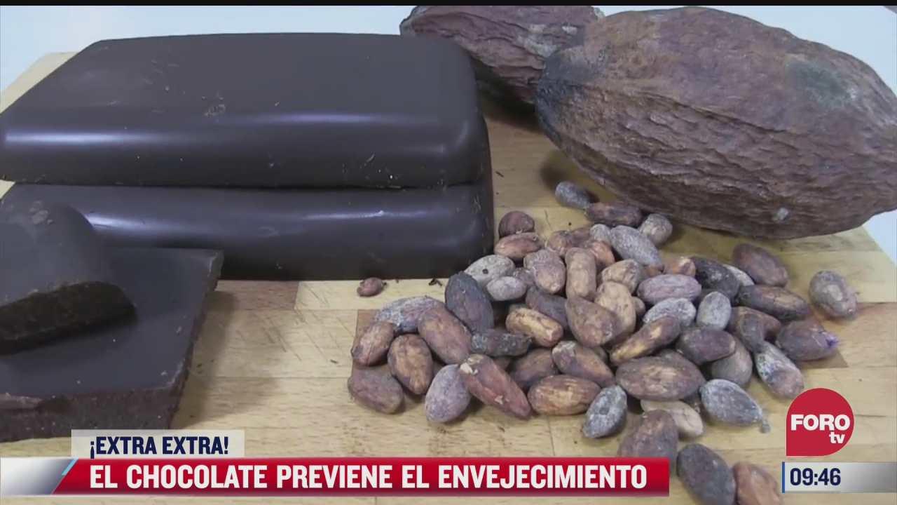 extra extra el chocolate previene el envejecimiento