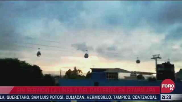 falla servicio en la linea 2 del cablebus en iztapalapa