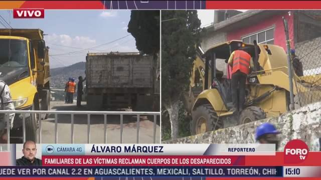familiares de las victimas reclaman cuerpos de los desaparecidos en el cerro del chiquihuite