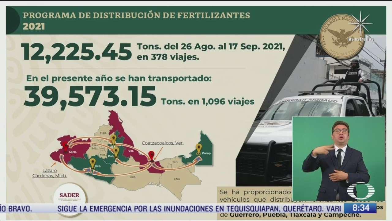 guardia nacional custodia distribucion de gas y fertilizantes