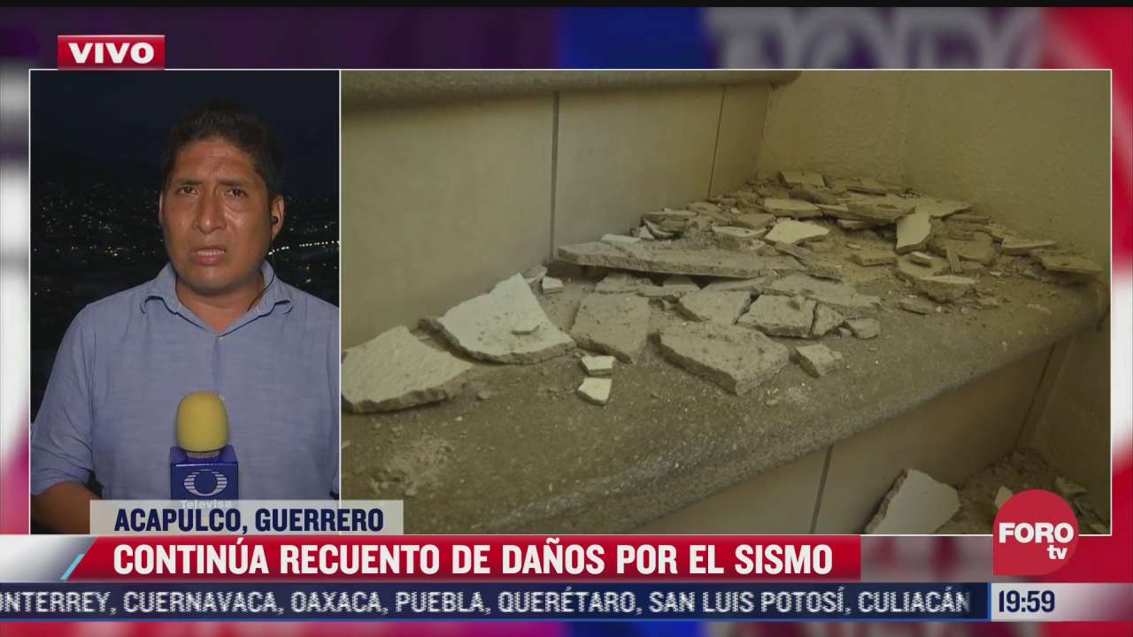 guerrero continua con el recuento de los danos tras sismo