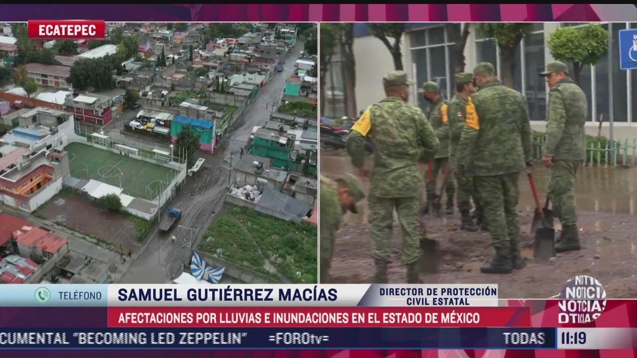 hay 19 colonias afectadas por las inundaciones en ecatepec confirma director de proteccion civil del estado de mexico