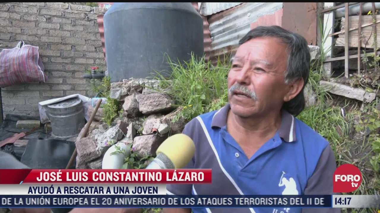 hombre narra como ayudo a rescatar a una joven tras el derrumbe del cerro del chiquihuite