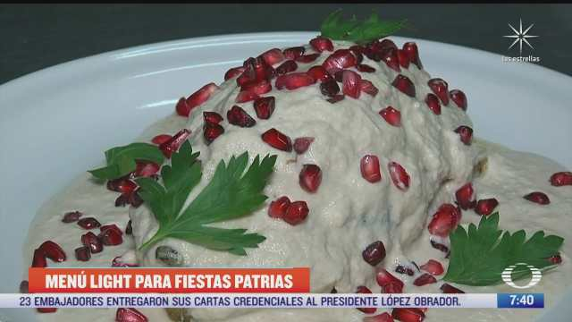 imss sugiere menu saludable para estas fiestas patrias pozole bajo en calorias y chile en nogada sin capear